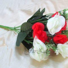 alb cu rosu